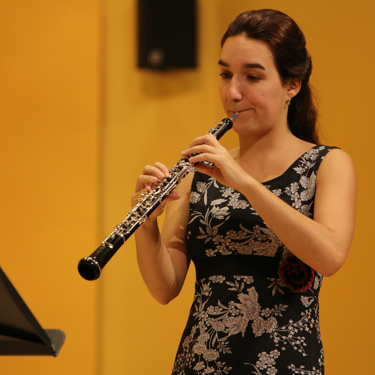 Photo of Élise Poulin during a concert. Credit: Charles-Antoine Solis